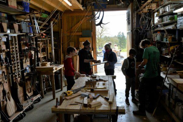Atelier bois, hout workshop