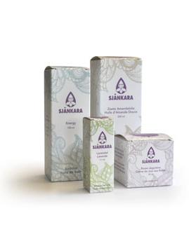 illustration d'emballage huiles essentielles sjankara