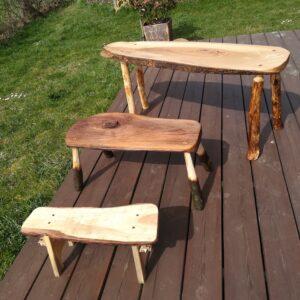 Exemple de petits bancs réalisés lors d'un atelier